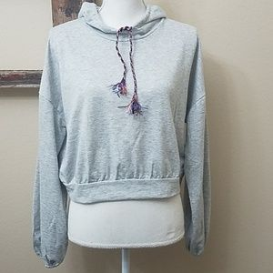 Wild Fable gray cropped hoodie boxy